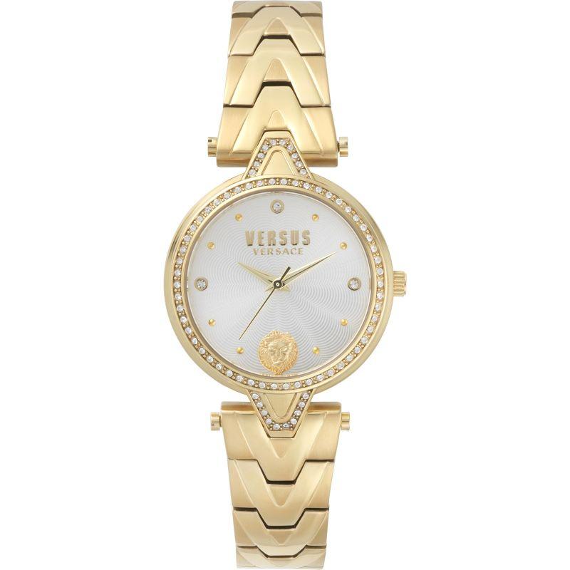 Ladies Versus V Crystal Silver Dial Bracelet Watch