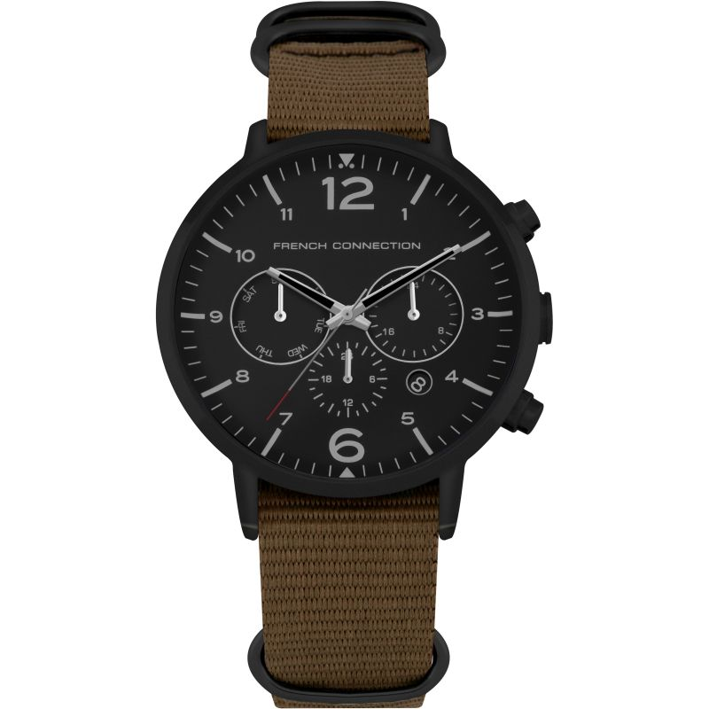 French Connection Extra Strap Watch Set