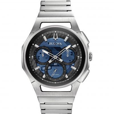 Mens Bulova Quartz Progressive Sport Chronograph Stainless Steel Watch 96A205