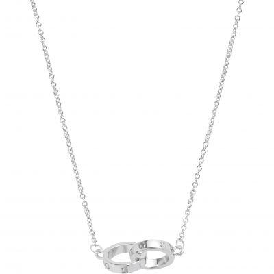 Engraveables Interlink Silver Necklace OBJ16ENN54