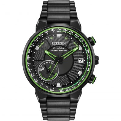 Mens Citizen Eco-drive Satellite Wave Gps Radio Controlled Stainless Steel Watch CC3035-50E