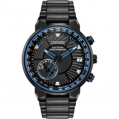Mens Citizen Eco-drive Satellite Wave Gps Radio Controlled Stainless Steel Watch CC3038-51E