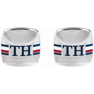 Tommy Hilfiger Stainless Steel Rounded Square Cufflinks 2790175