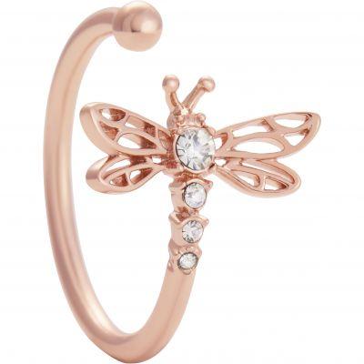Dancing Dragonfly Ring Rose Gold Ring OBJAMR47