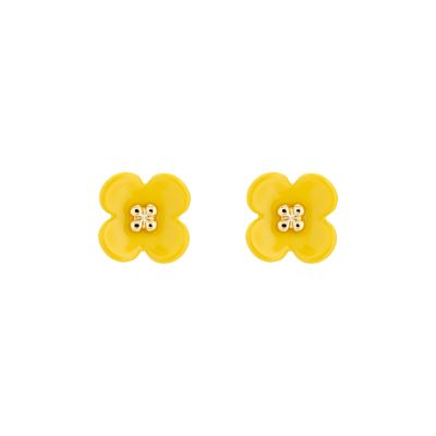Turnip Flower Stud Earrings AWA168-02-10