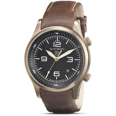 Elliot Brown Herrenuhr in Braun 202-022-L22