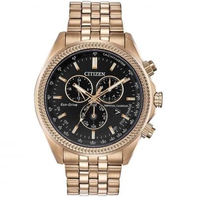 Mens Citizen Alarm Chronograph Stainless Steel Watch BL5563-58E