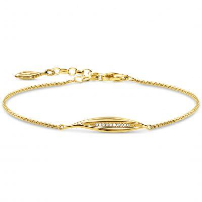 Thomas Sabo Magic Garden Gold Leaf Bracelet A1935-414-14-L19V
