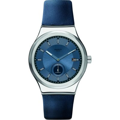 Mens Swatch Petite Seconde Blue Automatic Watch SY23S403