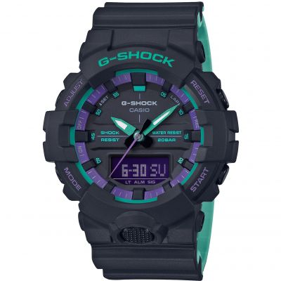 Unisex Casio G-Shock Alarm Chronograph Watch GA-800BL-1AER