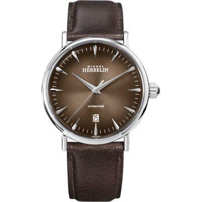 Mens Michel Herbelin Inspiration Mokka Automatic Watch 1647/AP27