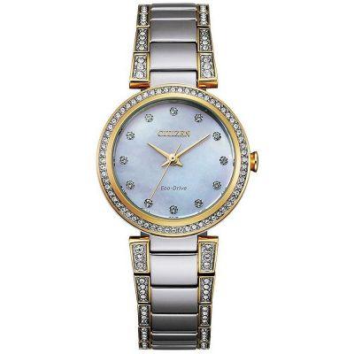 Ladies Citizen Silhouette Crystal Watch EM0844-58D