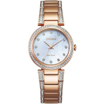 Ladies Citizen Silhouette Crystal Watch EM0843-51D