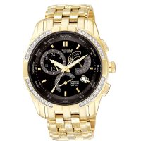 Herren Citizen Calibre 8700 Wecker Diamant Eco-Drive Uhr