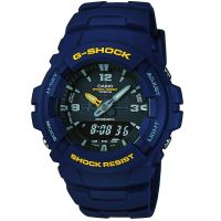 Casio G-Shock Antimagnetic Herenchronograaf Blauw G-100-2BVMUR