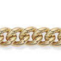 Curb Link Charm Bracelet with Padlock 7.5/19cm.
