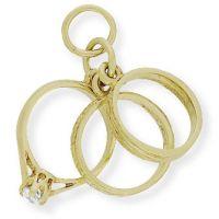 Cubic Zirconia Ring Trio Charm