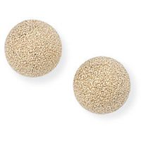 7mm Frosted Ball Stud Earrings