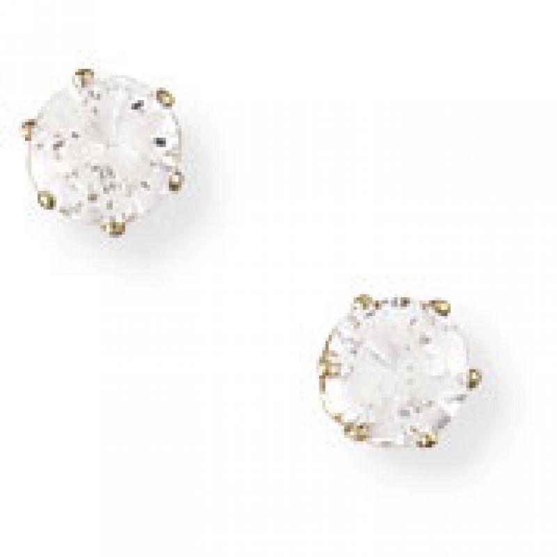 Claw-set 4mm Cubic Zirconia Stud Earrings