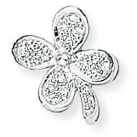 White Gold Diamond Four Leaf Clover Pendant