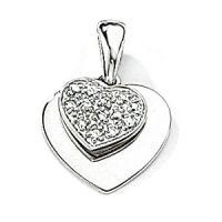 Weißgold Diamant Herz Anhänger
