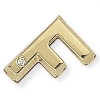 Diamant F Initiale Anhänger