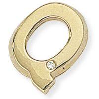Diamond Q Initial Pendant