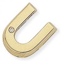 Diamant U Initiale Anhänger