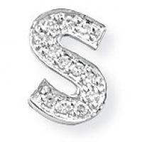Weißgold Diamant S Initiale Anhänger