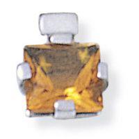 Weißgold Anhänger Quadrat Citrine Anhänger