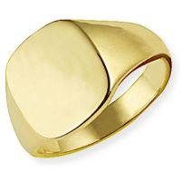 klassisch Oxford Polster Signet Ring Größe T