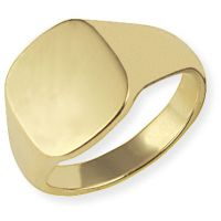Classic Oxford Cushion  Signet Ring Size V
