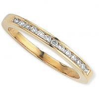 0.15ct tw VS Brillantschliff Halbe-Ewigkeit-Diamant Ring Größe O