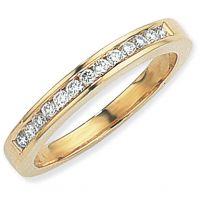 0.25ct tw VS Brilliant-cut Half Eternity Diamond Ring Size L