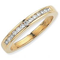 0.25ct tw VS Brilliant-cut Half Eternity Diamond Ring Size P