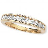 0.50ct tw VS Brillantschliff Halbe-Ewigkeit-Diamant Ring Größe N