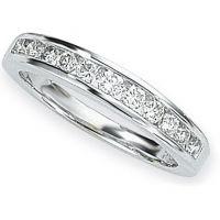 Weißgold 0.50ct tw Brillantschliff Halbe-Ewigkeit-Diamant Ring Größe M