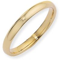 3mm Court-Shaped Band Size M