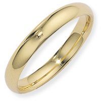 4mm Court-Shaped Band Size R