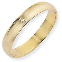 4mm D-Shaped Band Size O
