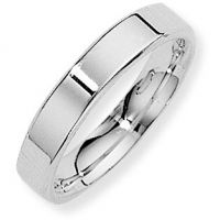 White Gold 4mm Essential Flat-Court Band Size U