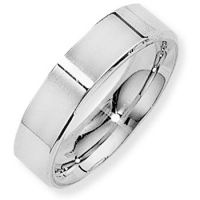 White Gold 5mm Essential Flat-Court Band Size N