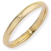 3mm Essential Court-Shaped Band Size M