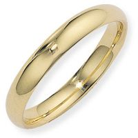 4mm Essential Court-Shaped Band Size J