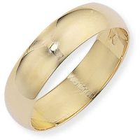 6mm Essential D-Shaped Band Size R