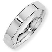 White Gold 4mm Essential Flat-Court Band Size T