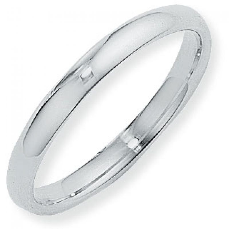3mm Court-Shaped Band Size Q