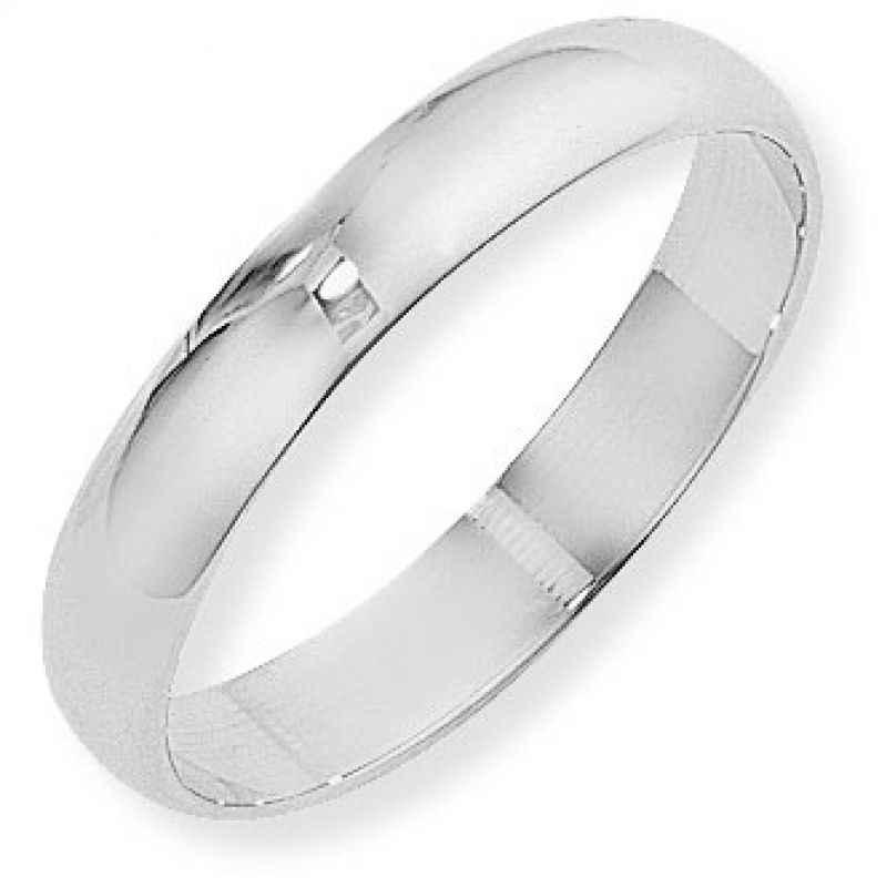 4mm D-Shaped Band Size T