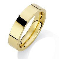 5mm Premium Flat Court-Shaped Band Size W