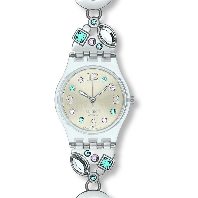 Damen Swatch Menthol Tone Watch LK292G